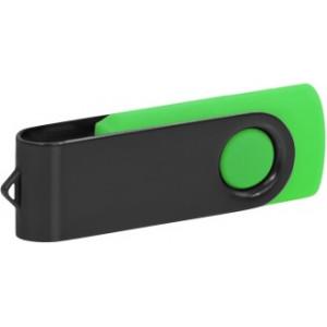 """Reklamní předmět """"Flashdisk USB 2.0"""" v barevné variantě černá/žlutozelená"""