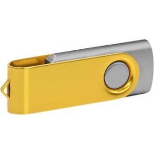 """Reklamní předmět """"Flashdisk USB 2.0"""" v barevné variantě zlatá/stříbrná"""
