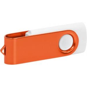 """Reklamní předmět """"Flashdisk USB 2.0"""" v barevné variantě ocelově modrá/oranžová"""