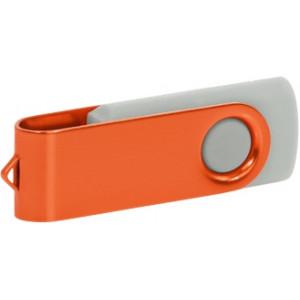 """Reklamní předmět """"Flashdisk USB 2.0"""" v barevné variantě ocelově modrá/žlutooranžová"""