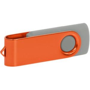 """Reklamní předmět """"Flashdisk USB 2.0"""" v barevné variantě ocelově modrá/bílá"""