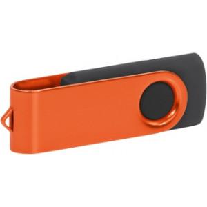 """Reklamní předmět """"Flashdisk USB 2.0"""" v barevné variantě ocelově modrá/stříbrná"""
