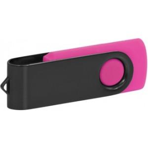 """Reklamní předmět """"Flashdisk USB 2.0"""" v barevné variantě černá/růžová"""