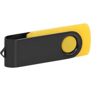 """Reklamní předmět """"Flashdisk USB 2.0"""" v barevné variantě černá/žlutooranžová"""