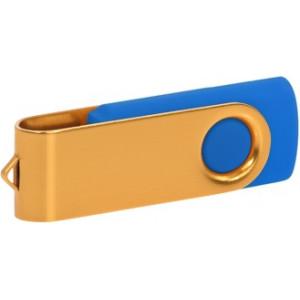"""Reklamní předmět """"Flashdisk USB 2.0"""" v barevné variantě námořnická modř/žlutozelená"""
