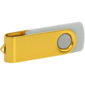 """Reklamní předmět """"Flashdisk USB 2.0"""" v barevné variantě zlatá/světle šedá"""