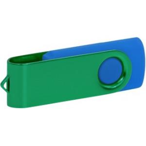 """Reklamní předmět """"Flashdisk USB 2.0"""" v barevné variantě námořnická modř/žlutooranžová"""