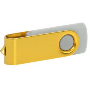 """Reklamní předmět """"Flashdisk USB 2.0"""" v barevné variantě žlutá/světle šedá"""