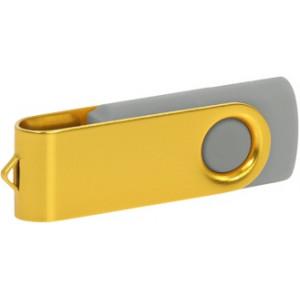 """Reklamní předmět """"Flashdisk USB 2.0"""" v barevné variantě zlatá/šedá"""