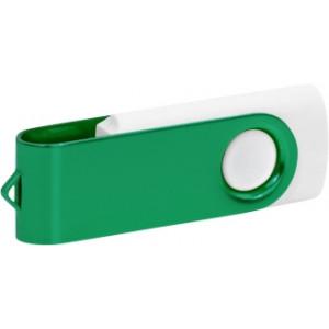 """Reklamní předmět """"Flashdisk USB 2.0"""" v barevné variantě tmavě šedá/žlutozelená"""