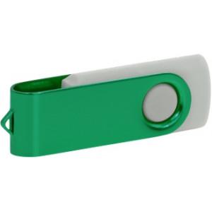 """Reklamní předmět """"Flashdisk USB 2.0"""" v barevné variantě tmavě šedá/azurová"""