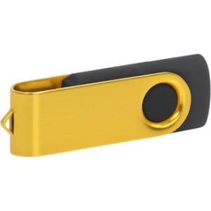 """Reklamní předmět """"Flashdisk USB 2.0"""" v barevné variantě zlatá/černá"""