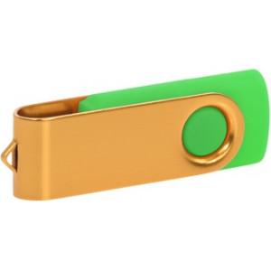 """Reklamní předmět """"Flashdisk USB 3.0"""" v barevné variantě zlatá/žlutozelená"""