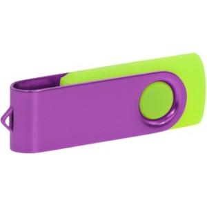 """Reklamní předmět """"Flashdisk USB 3.0"""" v barevné variantě fialová/žlutozelená"""