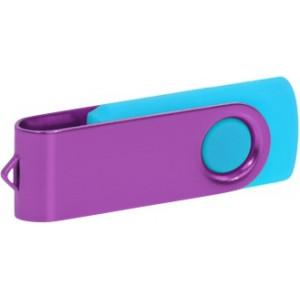 """Reklamní předmět """"Flashdisk USB 3.0"""" v barevné variantě fialová/azurová"""