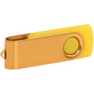 """Reklamní předmět """"Flashdisk USB 3.0"""" v barevné variantě zlatá/bílá"""