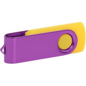 """Reklamní předmět """"Flashdisk USB 3.0"""" v barevné variantě fialová/žlutooranžová"""