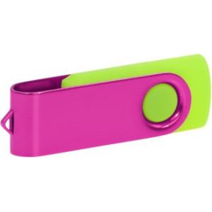 """Reklamní předmět """"Flashdisk USB 3.0"""" v barevné variantě růžová/žlutozelená"""