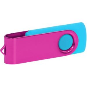 """Reklamní předmět """"Flashdisk USB 3.0"""" v barevné variantě růžová/azurová"""