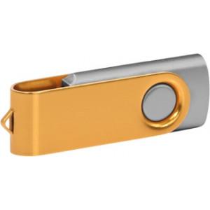 """Reklamní předmět """"Flashdisk USB 3.0"""" v barevné variantě zlatá/světle šedá"""