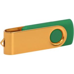 """Reklamní předmět """"Flashdisk USB 3.0"""" v barevné variantě zlatá/ocelově modrá"""