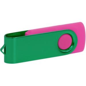 """Reklamní předmět """"Flashdisk USB 3.0"""" v barevné variantě tmavě zelená/růžová"""