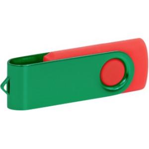 """Reklamní předmět """"Flashdisk USB 3.0"""" v barevné variantě tmavě zelená/oranžová"""