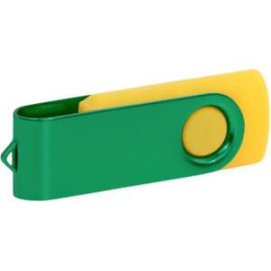 """Reklamní předmět """"Flashdisk USB 3.0"""" v barevné variantě tmavě zelená/žlutooranžová"""
