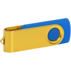 """Reklamní předmět """"Flashdisk USB 3.0"""" v barevné variantě žlutá/námořnická modř"""
