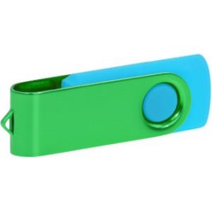 """Reklamní předmět """"Flashdisk USB 3.0"""" v barevné variantě tmavě zelená/azurová"""