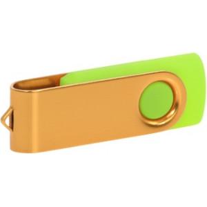 """Reklamní předmět """"Flashdisk USB 3.0"""" v barevné variantě zlatá/azurová"""
