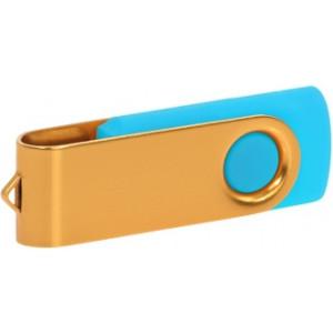 """Reklamní předmět """"Flashdisk USB 3.0"""" v barevné variantě zlatá/námořnická modř"""