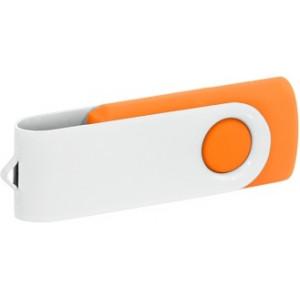 """Reklamní předmět """"Flashdisk USB 3.0"""" v barevné variantě bílá/žlutooranžová"""