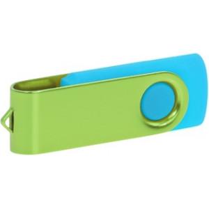 """Reklamní předmět """"Flashdisk USB 3.0"""" v barevné variantě olivová/azurová"""