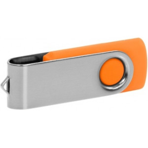 """Reklamní předmět """"Flashdisk USB 3.0"""" v barevné variantě stříbrná/žlutooranžová"""