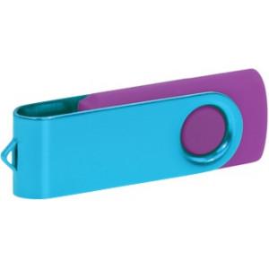 """Reklamní předmět """"Flashdisk USB 3.0"""" v barevné variantě ocelově modrá/fialová"""