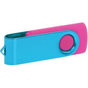 """Reklamní předmět """"Flashdisk USB 3.0"""" v barevné variantě ocelově modrá/růžová"""