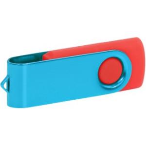 """Reklamní předmět """"Flashdisk USB 3.0"""" v barevné variantě ocelově modrá/oranžová"""