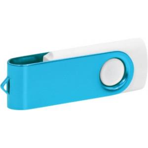 """Reklamní předmět """"Flashdisk USB 3.0"""" v barevné variantě ocelově modrá/bílá"""