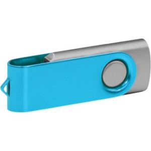 """Reklamní předmět """"Flashdisk USB 3.0"""" v barevné variantě ocelově modrá/stříbrná"""