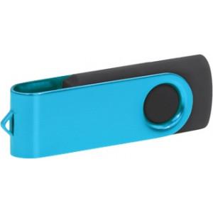 """Reklamní předmět """"Flashdisk USB 3.0"""" v barevné variantě ocelově modrá/černá"""