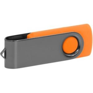 """Reklamní předmět """"Flashdisk USB 3.0"""" v barevné variantě šedá/žlutooranžová"""