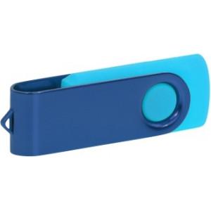 """Reklamní předmět """"Flashdisk USB 3.0"""" v barevné variantě tmavě šedá/azurová"""