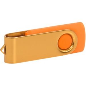 """Reklamní předmět """"Flashdisk USB 3.0"""" v barevné variantě zlatá/žlutooranžová"""