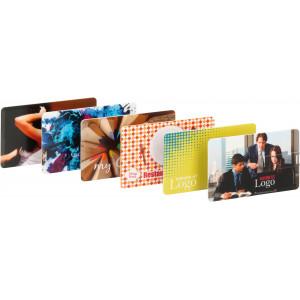 """Náhled reklamního předmětu """"Karta s flashdiskem USB a plnobarevným potiskem"""""""