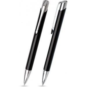 """Reklamní předmět """"Kovové kuličkové pero (propiska) Viena"""" v barevné variantě černá"""