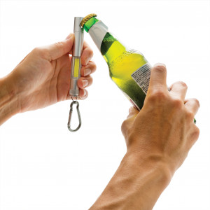 """Fotografie k reklamnímu předmětu """"COB svítilna s otvírákem lahví"""""""