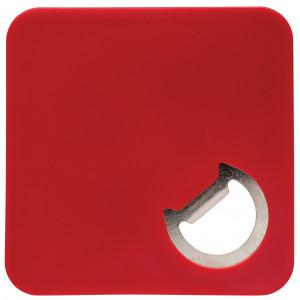 """Reklamní předmět """"Otvírák a podtácek 2v1"""" v barevné variantě červená"""