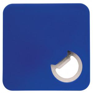 """Reklamní předmět """"Otvírák a podtácek 2v1"""" v barevné variantě modrá"""