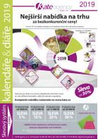 Titulní stránka letáku Kalendáře a diáře 2019